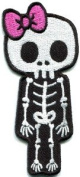 Skull Skeleton Goth Punk Emo Horror Appliques Hat Cap Polo Backpack Clothing Jacket Shirt DIY Embroidered Iron On / Sew On Patch #4