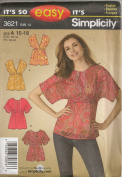Simplicity 3621, Misses' Top/Tunic, Size 10-18