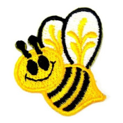 Baby Bumble Bee Animal Honey 4.1cm Appliques Hat Cap Polo Backpack Clothing Jacket Shirt DIY Embroidered Iron On / Sew On Patch #6