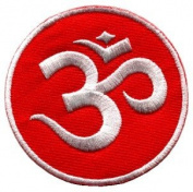 Aum Om Infinity Hindu Hindi Hinduism Yoga Indian Applique Iron-on Patch New S-3 Handmade Design From Thailand