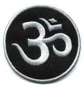 Aum Om Infinity Hindu Hinduism Yoga Indian Trance Applique Iron-on Patch New S-1 Handmade Design From Thailand