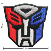 Ayygiftideas Transformers Autobot Logo II Embroidered Iron on Patches to Jeans /Bags /Shirts
