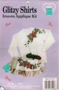 Glitzy Shirts Iron-on Applique Rose Design