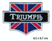 TRIUMPH Daytona England UK Appliques Hat Cap Polo Backpack Clothing Jacket Shirt DIY Embroidered Iron On / Sew On Patch