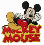 Walt Disney's Character Mickey Mouse W/ Logo Embroidered Iron On Applique Patch DS-93
