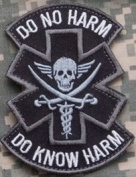 """Do No Harm"" Tactical Medic (Pirate) w hook and loop backing"