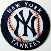 New York Yankees Patches NY Baseball Patches Embroidered Iron on Patches 7x7 Cm/ Shopping Mania