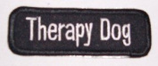 Therapy Dog 1.5 x 3.5 Small Dog Vest Patch