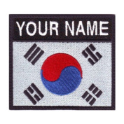 South Korea Badge Custom Flag Name Embroidered Sew On Patch