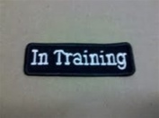In Training 1.5 x 3.5 Tiny Dog Vest Patch
