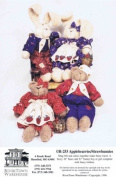 RiverTown Warehouse R-253 Sewing Pattern Bear Bunny Applebearies Strawbunnies