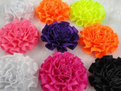 20x Mini Satin Ribbon Cabbage Flowers Wedding Decoration Appliques