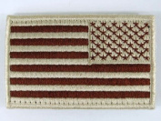 Airsoft US United States USA Reverse Flag hook and loop Patch Desert Tan