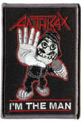 Anthrax Rock Music Band Patch - Cartoon Rockstar Man