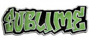 Sublime Music Band Patch - Green Graffiti Name Logo