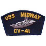 "USS MIDWAY CV-41 4½"" PATCH"