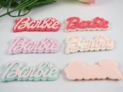 10pcs Barbie Backed Resin Flatback Button Embellishments