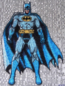 DC Comics BATMAN Standing Pose Embroidered PATCH