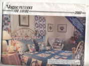 Vogue Patterns for Living Duvet Cover, Dust Ruffle, Bed Pillows and Balloon Shades Sewing Instructions #2080