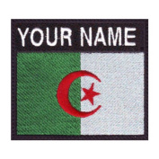 Algeria Custom Badge Flag Name Embroidered Sew On Patch