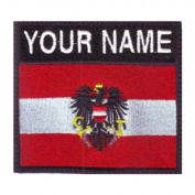 Austria Custom Badge Flag Name Embroidered Sew On Patch