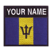 Barbados Custom Badge Flag Name Embroidered Sew On Patch