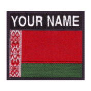 Belarus Custom Badge Flag Name Embroidered Sew On Patch
