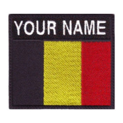 Belgium Custom Badge Flag Name Embroidered Sew On Patch