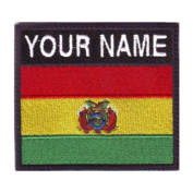 Bolivia Custom Badge Flag Name Embroidered Sew On Patch