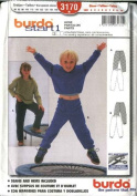 Burda Sewing Pattern 3170 Size 18M-10 Children's Easy Pull-on Pants