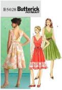 BUTTERICK B5028 MISSES DRESS & BELT [SIZE 16-18-20-22] SEWING PATTERN