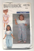 Butterick Easy Children's Party Pants Sewing Pattern # 4876