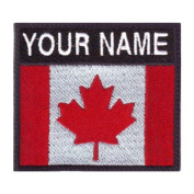 Canada Custom Badge Flag Name Embroidered Sew On Patch