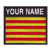 Catalunya Custom Badge Flag Name Embroidered Sew On Patch