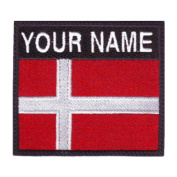 Denmark Custom Badge Flag Name Embroidered Sew On Patch