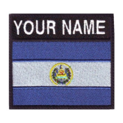 El Salvador Custom Badge Flag Name Embroidered Sew On Patch