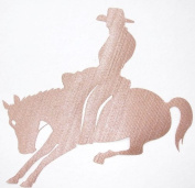 Fabric Glitter Rodeo Horse Cowboy B Iron-On Fabric Transfer