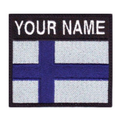 Finland Custom Badge Flag Name Embroidered Sew On Patch