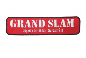 Grand Slam Sports Bar and Grill Large Super Strip Embroidered Iron on Applique