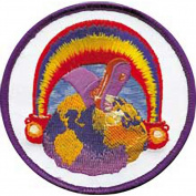 The Grateful Dead Rainbow Foot Embroidered Patch