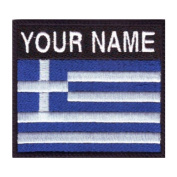 Greece Custom Badge Flag Name Embroidered Sew On Patch