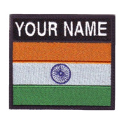 India Custom Badge Flag Name Embroidered Sew On Patch