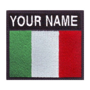Italy Custom Badge Flag Name Embroidered Sew On Patch