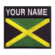 Jamaica Custom Badge Flag Name Embroidered Sew On Patch