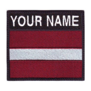 Latvia Custom Badge Flag Name Embroidered Sew On Patch