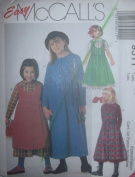 McCall's Easy Pattern 9511 Girls Modest Jumper or Dress Size CE