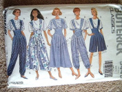 MISSES TOP, JUMPER & JUMPSUIT SIZE 6-8-10 FAST & EASY BUTTERICK CLASSICS SEWING PATTERN #5443