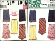 New Look Sewing Pattern 6084 Size 8-18 Misses Fitted Skirts Hem Options