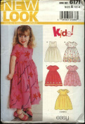 New Look Sewing Pattern 6171 Girls Size ½ - 4 Easy Dresses Pinafore Jumper