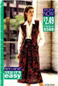 See & Sew 6568 Sewing Pattern Misses Vest Skirt Shirt Size 18 - 20 - 22